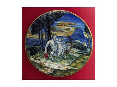 Plate Depicting Bacchus' Childhood