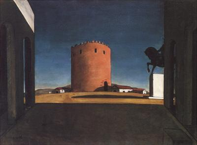 The Red Tower by Giorgio De Chirico