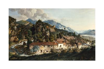 A Village in a Mountainous Landscape