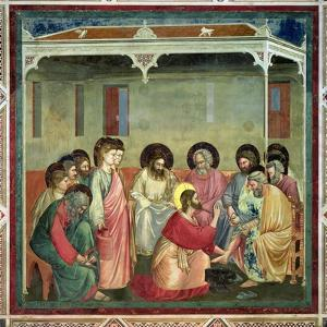 Christ Washing the Disciples' Feet, c.1305 (Post Restoration) by Giotto di Bondone