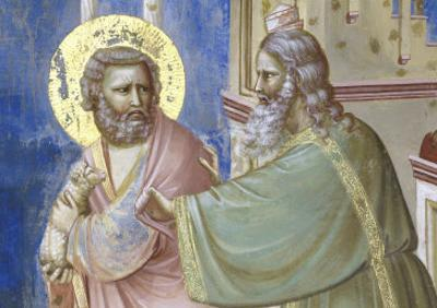 Expulsion of Joachim from the Temple, Detail by Giotto di Bondone
