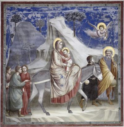 Flight into Egypt by Giotto di Bondone