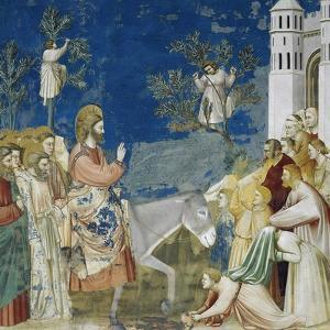 Jesus' Entry into Jerusalem, Detail from Life and Passion of Christ by Giotto di Bondone