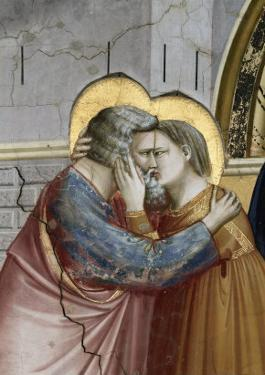 Meeting at the Golden Gate, Detail by Giotto di Bondone