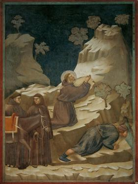 Miracle of the Spring by Giotto di Bondone