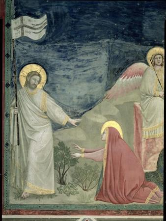 Noli Me Tangere, Detail of Christ and Mary Magdalene, c.1305 by Giotto di Bondone