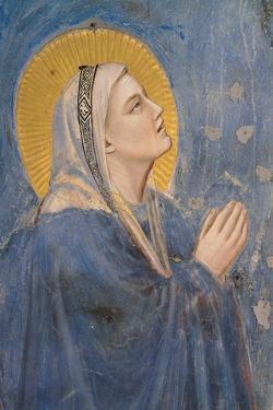 Passion, The Ascension, Detail of Virgin Mary by Giotto di Bondone