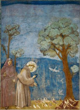 Preaching to the Birds by Giotto di Bondone