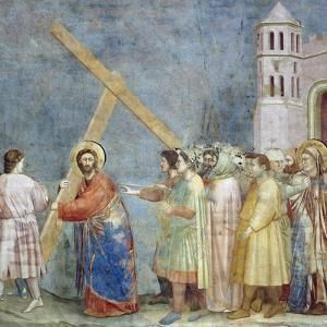 Road to Calvary, Detail from Life and Passion of Christ by Giotto di Bondone
