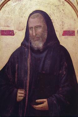 St. Benedict, Far Right Panel of the Badia Altarpiece, C.1301 (Detail) by Giotto di Bondone