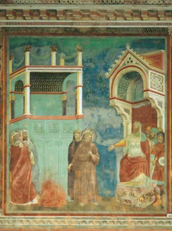 St. Francis before the Sultan by Giotto di Bondone