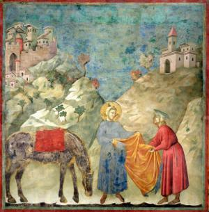 St. Francis Gives His Coat to a Stranger, 1296-97 by Giotto di Bondone
