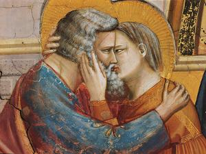 Stories of St Joachim and St Anne the Meeting at the Golden Gate by Giotto di Bondone