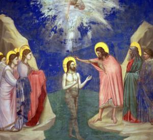The Baptism of Christ, circa 1305 by Giotto di Bondone