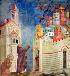 The Expulsion of the Devils from Arezzo, 1297-99 by Giotto di Bondone