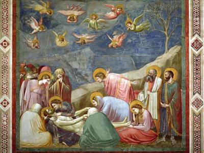 The Lamentation of the Dead Christ, circa 1305 by Giotto di Bondone