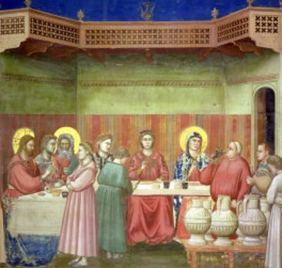 The Marriage Feast at Cana, circa 1305 by Giotto di Bondone