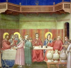 The Marriage Feast at Cana, circa 1305 by Giotto di Bondone