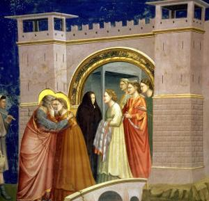 The Meeting at the Golden Gate, circa 1305 Gate in Jerusalem, circa 1305 by Giotto di Bondone