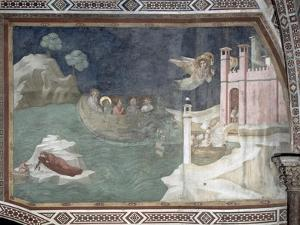 The Miraculous Arrival of Lazarus and His Sisters in Marseilles, 1320 by Giotto di Bondone