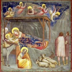 The Nativity, C.1305 by Giotto di Bondone