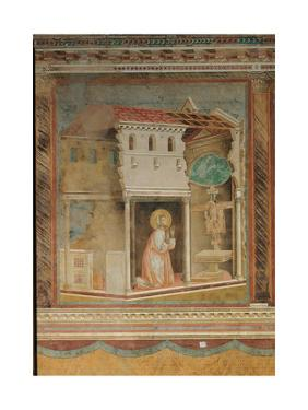 The Prayer Before the Crucifix of St Damian by Giotto di Bondone
