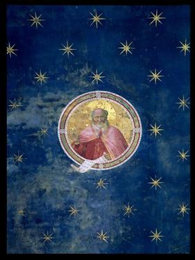 The Prophet Isaiah, Detail from the Vault, 1303-05 (Post Restoration) by Giotto di Bondone