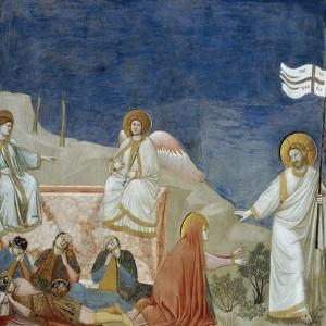 The Resurrection of Christ, Detail from Life and Passion of Christ by Giotto di Bondone