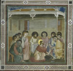 The Washing of the Feet by Giotto di Bondone