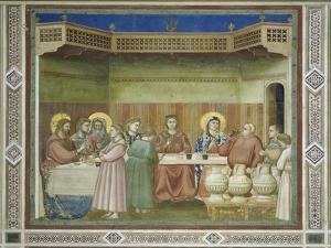 Wedding at Cana by Giotto di Bondone