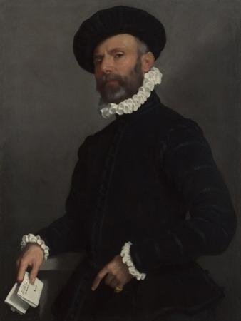 Portrait of a Man Holding a Letter (L'Avvocat), C. 1570 by Giovan Battista Moroni