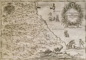 Map of Ancient Abruzzo, 1702 by Giovan Battista Pacichelli