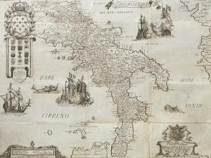 Map of the Kingdom of Naples, 1702 by Giovan Battista Pacichelli