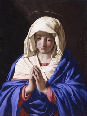 Virgin Praying with Eyes Lowered by Giovan Battista Salvi