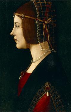 Portrait of a Woman (Beatrice D'Este) by Giovanni Ambrogio De Predis