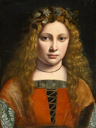 Portrait of a Young Girl Crowned with Flowers, c.1490