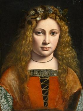 Portrait of a Young Girl Crowned with Flowers, c.1490 by Giovanni Antonio Boltraffio