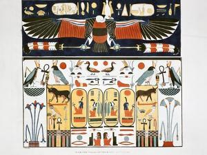 Mural from the Tombs of the Kings at Thebes, 1820 by Giovanni Battista Belzoni