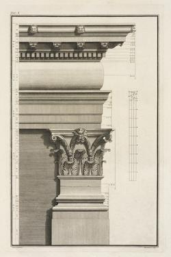 Base, Capital and Entablature of the Pilaster, 1753 by Giovanni Battista Borra