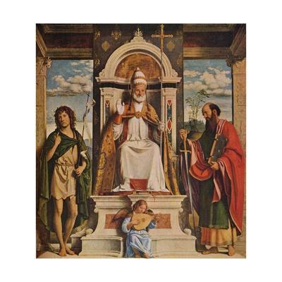 Saint Peter enthroned with Saints, John the Baptist and Saint Paul', c1516