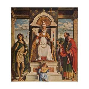 Saint Peter enthroned with Saints, John the Baptist and Saint Paul', c1516 by Giovanni Battista Cima da Conegliano