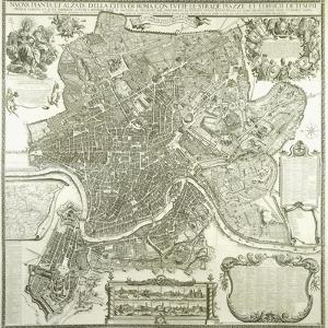 Town Plan of Rome, 1730 by Giovanni Battista Falda