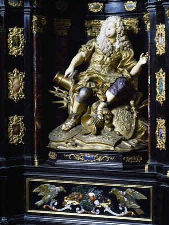 Figure of the Elector, Detail from the Cabinet of the Elector, 1709