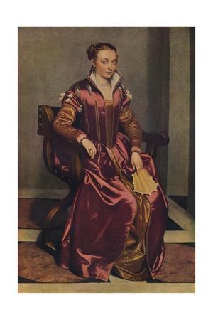 'Portrait of a Lady (La Dama in Rosso)', c1556