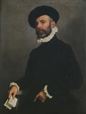Portrait of a Man Holding a Letter, C.1570-75 by Giovanni Battista Moroni