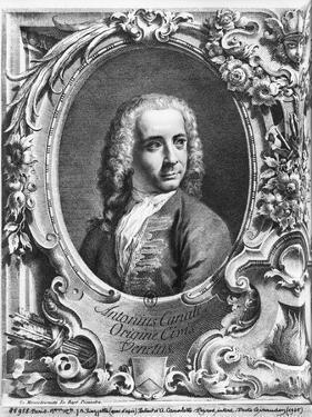 Antonio Canaletto, Rom Prospectus Magni Canalis Venetiarum, Before 1735 by Giovanni Battista Piazzetta