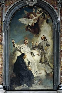 Italy, Venice, Chapel of Church of Jesuits or St Mary of Rosary by Giovanni Battista Piazzetta