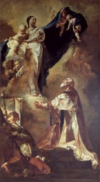 Virgin and Child Appearing to St. Philip Neri, 1725-26 by Giovanni Battista Piazzetta