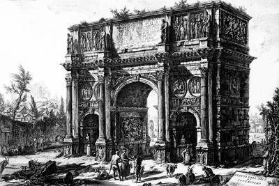 A View of the Arch of Constantine, from the 'Views of Rome' Series, C.1760