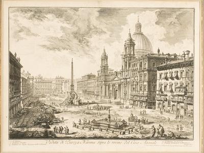 Piazza Navona, Plate from 'Vedute Di Roma', 1751